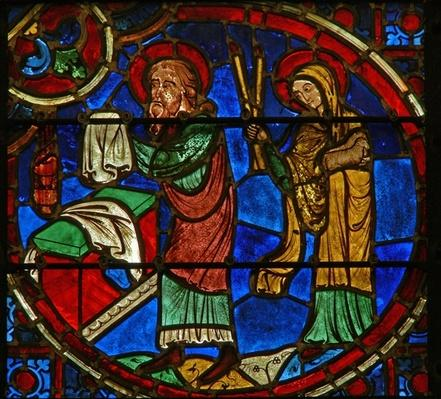 Window depicting Elisha and the Widow