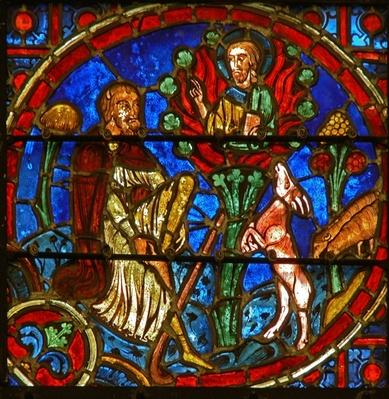Window depicting Moses and the Burning Bush