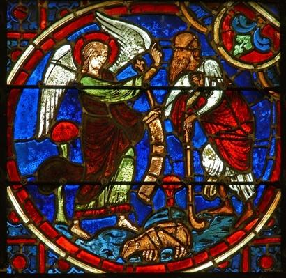 Window depicting the Annunciation to the shepherds