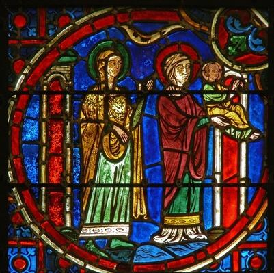 Window depicting the Presentation in the Temple