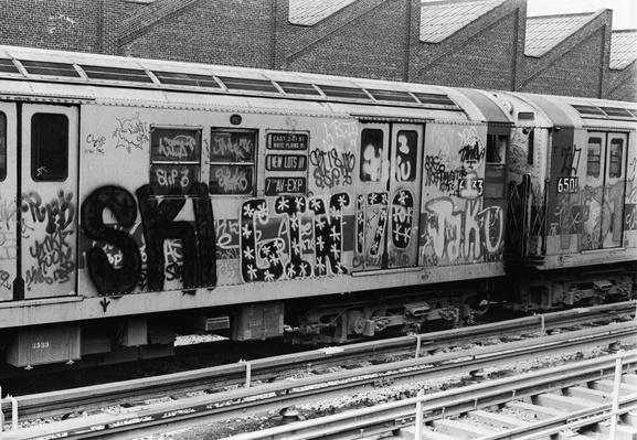 Exterior Of Subway Car Covered In Graffiti | Evolution of the Railroad (Engine)