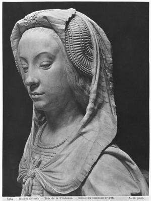 Nantes, St. Peter and St. Paul Cathedral, Tomb of Francis II, Duke of Brittany and Marguerite of Foix, head of Prudence, 1502-07