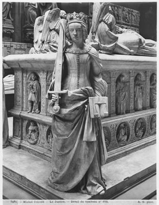 Nantes, St. Peter and St. Paul Cathedral, Tomb of Francis II, Duke of Brittany and Marguerite of Foix, detail of Justice, 1502-07