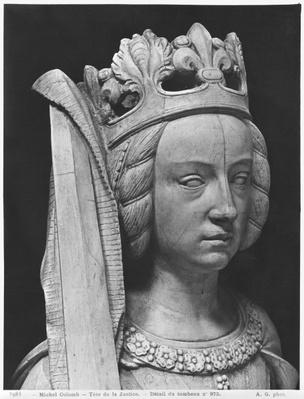 Nantes, St. Peter and St. Paul Cathedral, Tomb of Francis II, Duke of Brittany and Marguerite of Foix, head of Justice, 1502-07