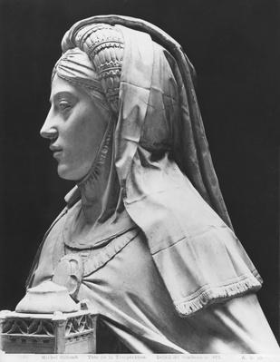 Nantes, St. Peter and St. Paul Cathedral, Tomb of Francis II, Duke of Brittany and Marguerite of Foix, head of Temperance, 1502-07