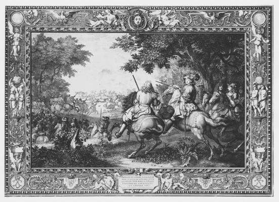 Tenture 'Histoire du Roi', Defeat of Count de Marsin, engraved by Sebastien Le Clerc