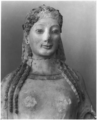 Kore known as Kore wearing a peplos, bust