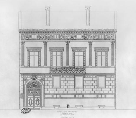 Hotel de Pourtales, facade, 1850