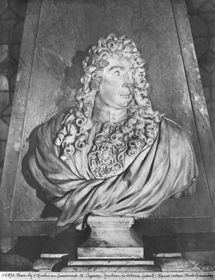 Tomb of Charles Le Brun and his wife, Suzanne Butay, detail of Charles Le Brun, 1692