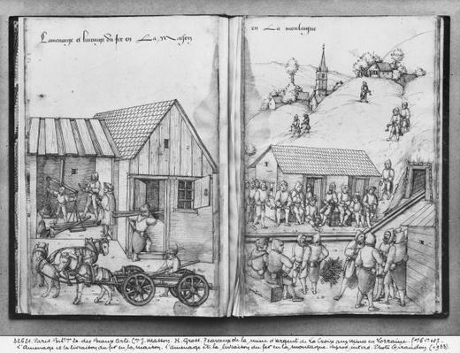 Silver mine of La Croix-aux-Mines, Lorraine, fol.6vand fol.7r, supplying and delivering iron, c.1530