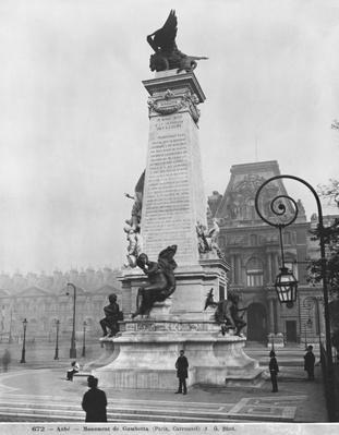 Monument to Leon Gambetta, cour Napoleon, Louvre, 1888