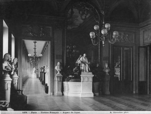 Comedie Francaise, view of the foyer, before 1902