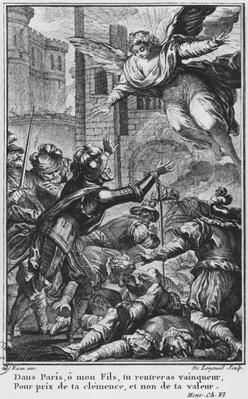 Siege of Paris, apparition of St. Louis