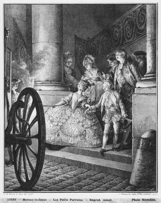 The Little Godfathers, 1776, engraved in 1777 by Pierre Charles Baquoy