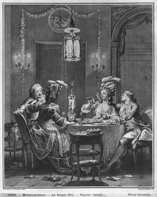 The Gourmet Supper, engraved by Isidore Stanislas Helman