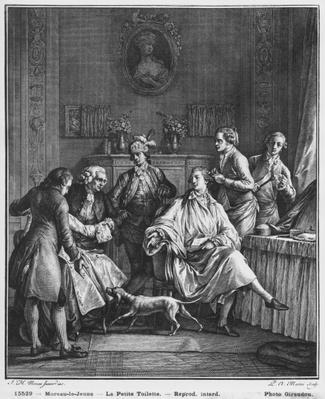 The Small Toilette, engraved by Pietro Antonio Martini