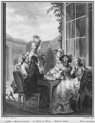 The whist party, engraved by Jean Dambrun
