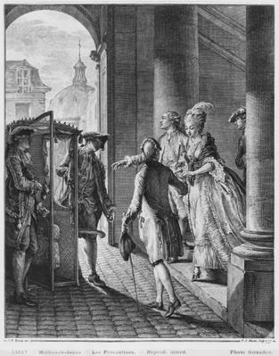 The Precautions, engraved by Pietro Antonio Martini