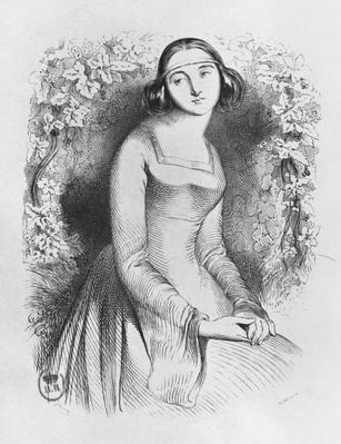 Heloise, illustration from 'Lettres d'Heloise et d'Abelard', 1839