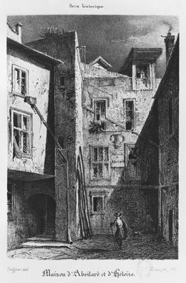 The House of Heloise and Abelard, illustration from 'Paris historique',