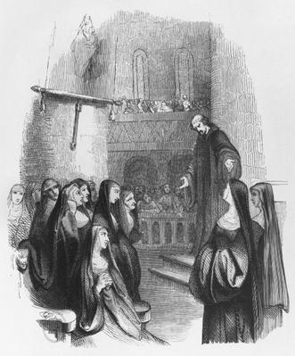 Abelard preaching at Paraclete, illustration from 'Lettres d'Heloise et d'Abelard', 1839