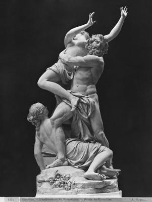 Rape of Proserpina by Pluto while one of her companions holds her back, 1699