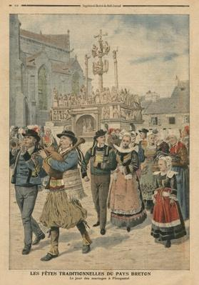 Wedding day at Plougastel, Brittany, illustration from 'Le Petit Journal', supplement illustre, 27th January 1907