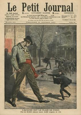 Apache is a nuisance for Paris, illustration from 'Le Petit Journal', supplement illustre, 20th October 1907