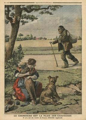 Vagabond is a nuisance for countryside, illustration from 'Le Petit Journal', supplement illustre, 20th October 1907