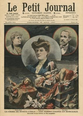 Crime of Monte Carlo, a woman cut into pieces, illustration from 'Le Petit Journal', supplement illustre, 25th August 1907