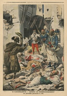 Casablanca after the bombing, illustration from 'Le Petit Journal', supplement illustre, 25th August 1907