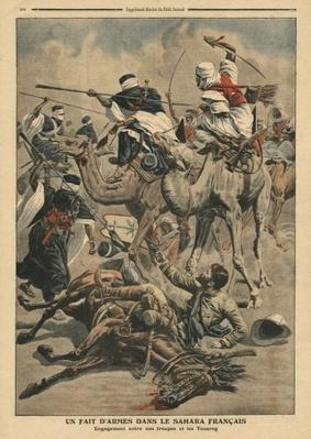 French troops in Sahara, illustration from 'Le Petit Journal', supplement illustre, 17th March 1907