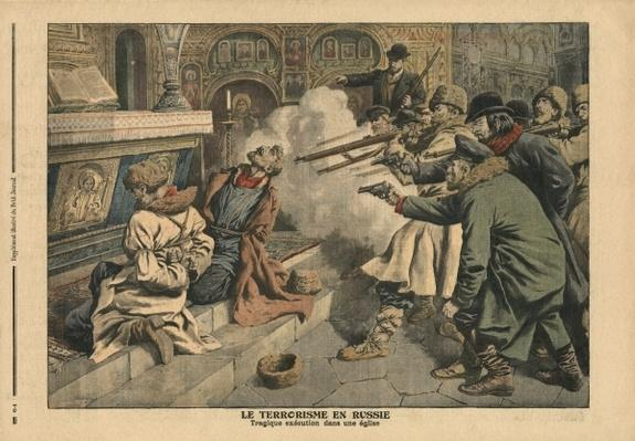 Terrorism in Russia, illustration from 'Le Petit Journal', supplement illustre, 24th February 1907