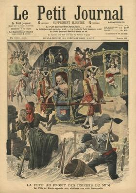 Celebration given by the Ville of Paris for the benefit of the flood victims in South France, illustration from 'Le Petit Journal', supplement illustre, 22nd December 1907