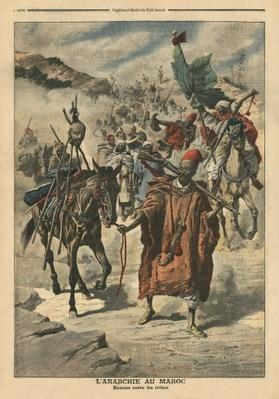 Anarchy in Morocco, plundering between tribes, illustration from 'Le Petit Journal', supplement illustre, 24th November 1907