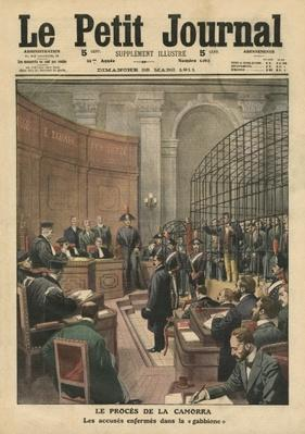 Trial of the Camorra, illustration from 'Le Petit Journal', supplement illustre, 26th March 1911