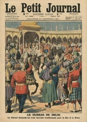 Delhi Durbar, illustration from 'Le Petit Journal', supplement illustre, 24th December 1911
