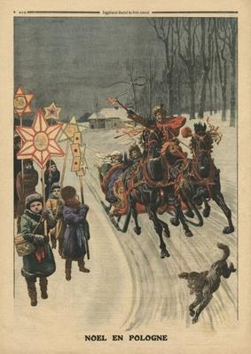 Christmas in Poland, illustration from 'Le Petit Journal', supplement illustre, 24th December 1911