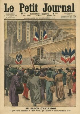 At the Aircraft Salon, illustration from 'Le Petit Journal', supplement illustre, 31st December 1911