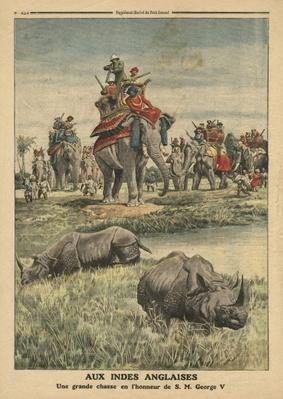 A rhinoceros hunt in honour of King George V