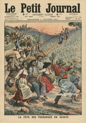 Celebrating the wine harvest in Alsace, illustration from 'Le Petit Journal', supplement illustre, 1st October 1911