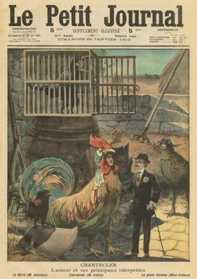 'Chantecler', the author Edmond Rostand and his main actors, illustration from 'Le Petit Journal', supplement illustre, 30th January 1910