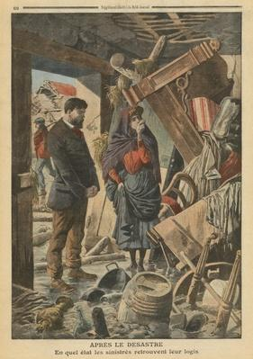 After the disaster, illustration from 'Le Petit Journal', supplement illustre, 13th February 1910