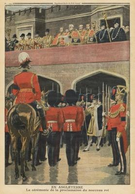 England, proclamation of the new King George V, illustration from 'Le Petit Journal', supplement illustre, 22nd May 1910