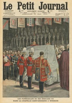 Funeral of King Edward VII in St. George's chapel at Windsor, illustration from 'Le Petit Journal', supplement illustre, 29th May 1910