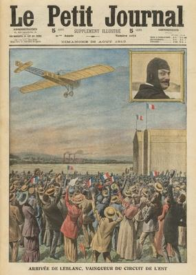 The aviator Alfred Leblanc arriving in Issy-les-Moulineaux, illustration from 'Le Petit Journal', supplement illustre, 28th August 1910