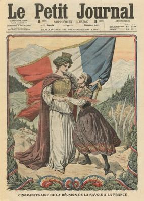 50th anniversary of the annexation of Savoy to France, illustration from 'Le Petit Journal', supplement illustre, 18th September 1910