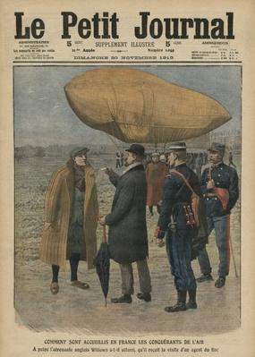 How the air conquerors are welcomed in France, Ernest Willows, illustration from 'Le Petit Journal', supplement illustre, 20th November 1910