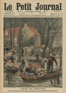 Floods again, illustration from 'Le Petit Journal', supplement illustre, 27th November 1910