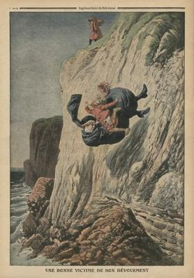 A nanny victim of her devotion, illustration from 'Le Petit Journal', supplement illustre, 20th November 1910